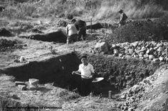 Abertura de quadrados durante as escavações luso-francesas, 1964-1966