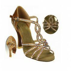 HenryG Women Wedding Shoes, Bridal Shoes, Latin Salsa Women Dance Shoes Sparkling Rhinestone Latin Sandals, HGB-5283