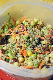 Vanishing Veggie: Chickpea and Quinoa Summer Salad