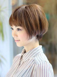 小顔モテショート Short Hair Cuts, Short Hair Styles, Bob With Fringe, Shoulder Hair, Asian Hair, Bob Styles, Short Hairstyles For Women, About Hair, Hair Dos