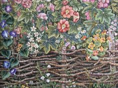 Floral Landscape  Hand Made Embroidery  Wall Decor by NeedleWay, €700.00