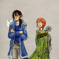 The Stormlight Archive - Shallan and Kaladin. The sleeve is covering her freehand, but otherwise it's a great piece!
