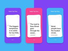 Daily UI #5: Quote Card App by Shirish Shikhrakar