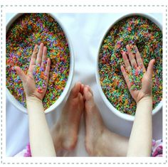 Here are 25 more ways for you to enjoy stimulating your child's senses through fun play recipes from some top kid blogger moms (you know those moms I mentioned above that I want to be like when I grow up).
