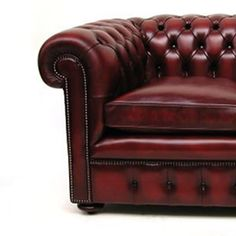 #Vintage style Windsor 2-seat #leather sofa bed. Available in multiple colours. #Chesterfield inspired. Free UK delivery.