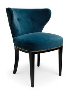 """poltrona """"Babo Chair"""" ( 72x59x61 zampe in legno di noce nero americano, tessuto imbottito) Amy Somerville UK"""