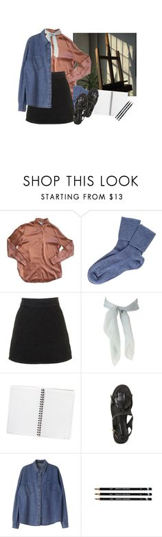 """sketching"" by paper-freckles ❤ liked on Polyvore featuring Black and Topshop"