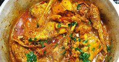 INGREDIENTES 1 galinha caipira médio ou grande 4 cebolas de cabeça 10 dentes de alho 2 colheres bem rasas de sopa de sal Pimenta do rein... Frango Chicken, Paella, Curry, Dinner, Ethnic Recipes, Grande, 1, Food, Onions