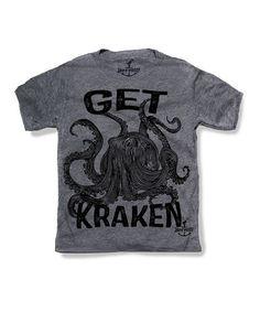 This Gray 'Get Kraken' Tee - Toddler & Kids by Skip N' Whistle is perfect! #zulilyfinds