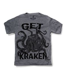 Look what I found on #zulily! Gray 'Get Kraken' Tee - Toddler & Kids #zulilyfinds