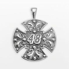 """Insignia collection nascar jimmie johnson sterling silver """"48"""" maltese cross pendant on shopstyle.com"""