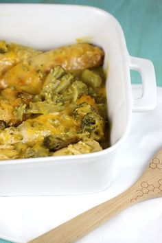 Slow Cooker Broccoli and Cheese Chicken Recipe - #slowcooker