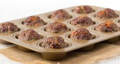 Muffin meat loaf with carrots and zucchini