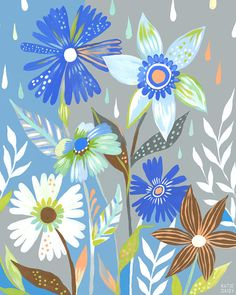 Katie Daisy - The Language of Flowers | Patternbank
