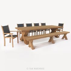 Cross Table and Tango Chair Dining Set - Dining Sets - Dining