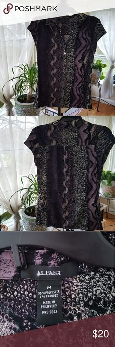 Alfani short sleeve blouse Alfani short sleeve blouse worn once alf Alfani Tops Blouses