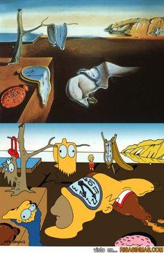 La persistencia de la memoria de Dalí a los Simpson.
