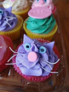 Libby's Cupcakes Etc: Kitty Cat Birthday Cupcakes