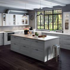Marbodal Form kritvit/ljusgrå Kitchen Island, Kitchen Cabinets, Home Kitchens, Kitchen Design, Kitchen Ideas, Sweet Home, New Homes, Cottage, Inspiration