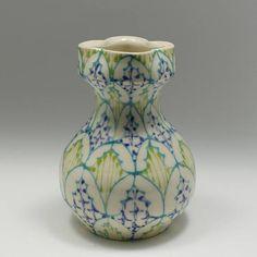 Ceramic Handmade Bud Vase  with Turquoise Kiwi and Heather