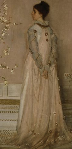 Symphony in Flesh Colour and Pink: Portrait of Frances Leyland, wife of Liverpool ship owner Frederick Leyland, 1871–1874, by Whistler