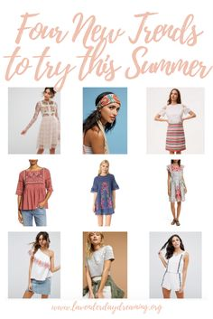 Looking for some new styles to update your wardrobe this season? There's more than off-the-shoulder tops. Read about four of our favorite trends for summer!
