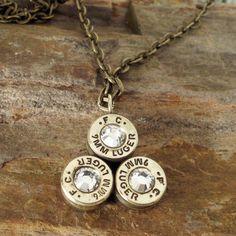 Bullet Casing Pendant  Bullet  Necklace by ShellsNStuff on Etsy, $22.99