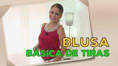 DIY Blusa Básica de Tiras  BASIC BLOUSE OF STRIPS- Omaira tv