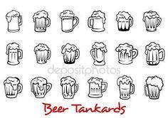 Descargar - Juego de jarras de cerveza — Ilustración de stock #52841221