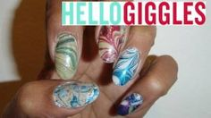 ❄☃Holiday Water Marbling ☃❄, via YouTube.