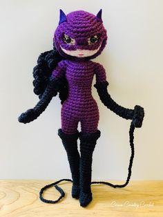 CROCHET PATTERN Catwoman Doll // Amigurumi // Doll Crochet // Cat Crochet // Superhero Crochet // Co Basic Crochet Stitches, Crochet Basics, Crochet Patterns, Boy Doll, Girl Dolls, Little Mermaid Crochet, Mermaid Dolls, Pose, Crochet Dolls