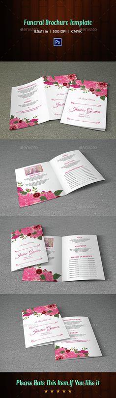 Daisy Funeral Program Design Program template, Funeral and Template - memorial program templates free