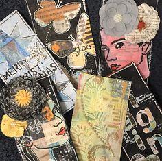 Hekta på papirkunst: Restepapir og decoupage. Tutorial på små kort Merry, Cards, Maps, Playing Cards