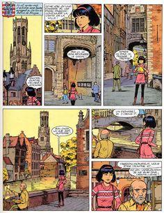 La ville, l'architecture et la BD. Yoko Tsuno, Bruges.