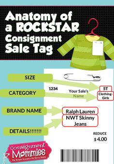 kids consignment sale tagging tip