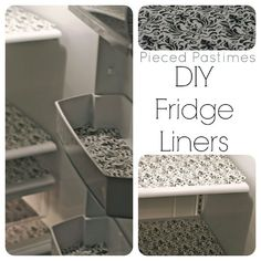 DIY fridge liners from Dollar Tree placemats