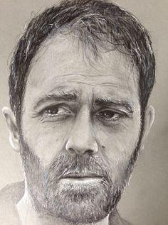 Portrait. Mastandrea. Pencil,marker. Illustration