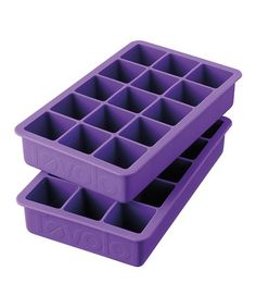 Another great find on #zulily! Purple Perfect Ice Cube Tray - Set of Two #zulilyfinds