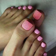 pink toenail arts - nail arts ideas