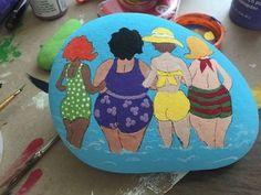 Mirror Painting, Pebble Painting, Pebble Art, Stone Painting, Painted Rocks Craft, Hand Painted Rocks, Painted Pebbles, Stone Crafts, Rock Crafts