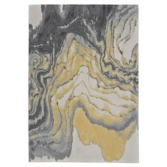 Lend a touch of visual appeal to your living room or master suite with this loomed rug, showcasing an abstract motif in slate.  Prod...