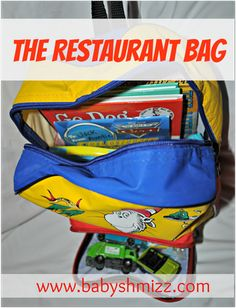 Make Your Own Restaurant Bag via @BabyShmizz  #toddler #preschooler