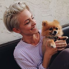 Tomboy Brittenelle Fredericks With Cute Puppies   iTomboys