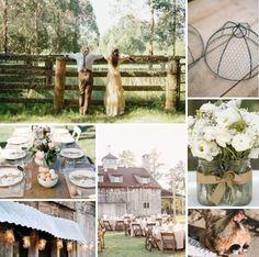 idées de décoration mariage de style champêtre ou rustique