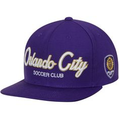 4db013796ab Show your love for the Orlando City SC with this Special Script snapback  adjustable hat from Mitchell   Ness! It features embroidered graphics  that ll put ...