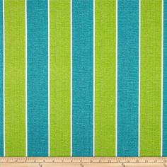 Richloom Solar Outdoor Wickenburg Stripe Teal from @fabricdotcom  Screen printed on polyester, this Solar outdoor fabric will withstand up to 500 hours of sunlight exposure, resists stains, is water resistant and has 10,000 double rubs. Perfect fabric for porches, patios, deck side, pool side and boat side create toss pillows, cushions, upholstery and great for tabletop, tote bags and more. To maintain the life of the fabric bring indoors when not in use. This fabric can easily be cleaned…