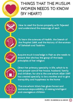 Things a Muslim woman should know