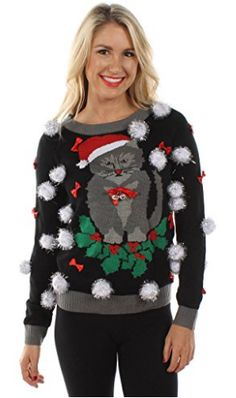 Looking for Tipsy Elves Women's Ugly Christmas Sweater - Cat Sweater Bells ? Check out our picks for the Tipsy Elves Women's Ugly Christmas Sweater - Cat Sweater Bells from the popular stores - all in one. Ugly Cat, Tipsy Elves, Ugly Christmas Sweater Women, Ugly Sweater Party, Cat Sweaters, Winter Outfits Women, Knitwear, Woman, Christmas Ideas