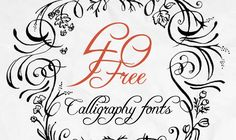 If you're fond of calligraphic writing that this blog post is specifically for you. Here we've touched upon history of calligraphic writing and gathered 40 most awesome free calligraphy fonts. Feel free to download them.