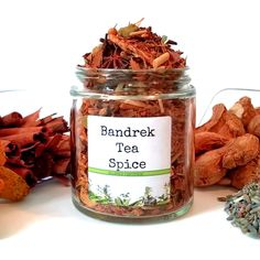 Bandrek Tea Spice, West Javan Spiced Tea, Gourmet Spices, Gluten Free, Salt Free, Tea Gift Spice Blends, Spice Mixes, Popcorn Gift, Cinnamon Chips, Spices And Herbs, Tea Gifts, Brewing Tea, Coriander Seeds, Food Safety